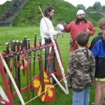 Cardiff Castle Garrison with weapons